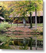 The Commissioners Cabin In Autumn Metal Print