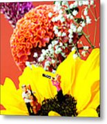 The Concert In The Flower Miniature Art Metal Print by Paul Ge