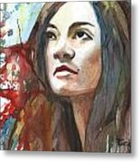 The Confident Miss Taggart Metal Print