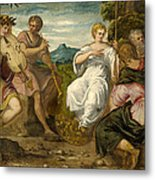 The Contest Between Apollo And Marsyas Metal Print