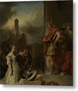 The Continence Of Scipio, Jan Van Noordt Metal Print