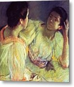 The Conversation Metal Print by Mary Stevenson Cassatt
