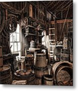 The Coopers Shop - 19th Century Workshop Metal Print