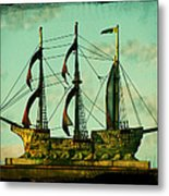 The Copper Ship Metal Print