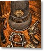 The Copper's Gear - Police Officer Metal Print
