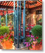 The Corner Cafe Metal Print