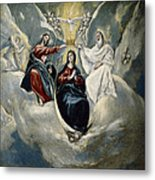 The Coronation Of The Virgin Metal Print