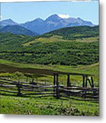 The Corral Metal Print