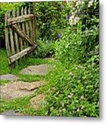 The Cottage Garden Walkway Metal Print