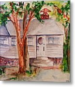 The Cottage In The Highlands Metal Print