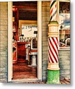The Country Barber Metal Print