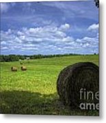 The Country House Hayfield Metal Print