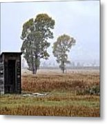 The Country Outhouse Metal Print