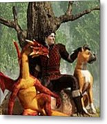 The Courageous Hunters Metal Print