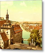 The Court House-bamberg-bavaria-germany - Between 1890 And 1900 Metal Print