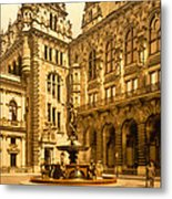 The Court House-hamburg-germany - Between 1890 And 1900 Metal Print