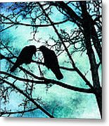 The Courtship Of Crows Metal Print