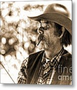 The Cowboy Angler Metal Print