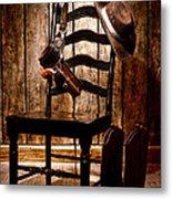 The Cowboy Chair Metal Print