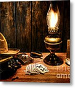 The Cowboy Nightstand Metal Print