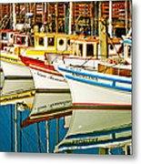 The Crab Fleet Metal Print