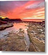 The Crack In The Rock Metal Print