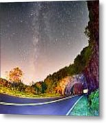 The Craggy Pinnacle Tunnel On The Blue Ridge Parkway  Metal Print