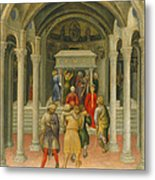 The Crippled And Sick Cured At The Tomb Of Saint Nicholas Metal Print by Gentile da Fabriano