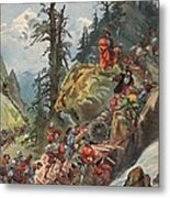The Crossing Of The Alps, Illustration Metal Print