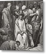 The Crown Of Thorns Metal Print by Gustave Dore