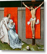 The Crucifixion With The Virgin And Saint John The Evangelist Mourning Metal Print