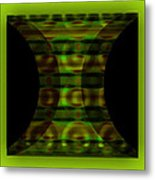 The Curtain - Green Metal Print