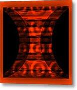 The Curtain - Orange  Metal Print