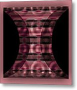 The Curtain - Pink Metal Print
