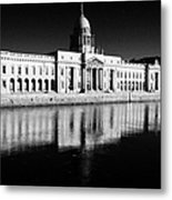 The Custom House Reflected In The River Liffey First Of Dublins Public Buildings Architect Was James Gandon Metal Print