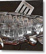 The Cutlery Fish Metal Print