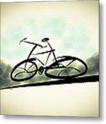 The Cycle - A Sketch Metal Print