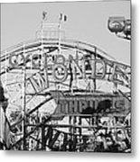 The Cyclone In Black And White Metal Print