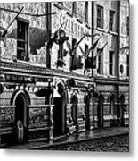The Czech Inn - Dublin Ireland In Black And White Metal Print