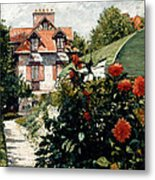 The Dahlias Garden At Petit Gennevilliers Metal Print