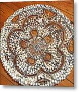 The Daisy Flower Bowl Metal Print