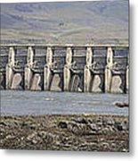 The Dalles Dam Along Columbia River Metal Print
