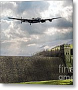 The Dambusters Over The Derwent Metal Print