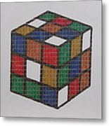 The Dammed Cube Metal Print