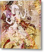 The Dancer And The Pierrot Metal Print