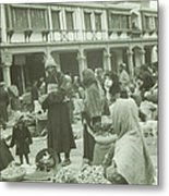 The Darjeeling Bazar Metal Print