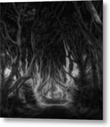 The Dark Hedges Metal Print