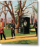 The Daughter Of The English Ambassador Riding In A Palanquin Metal Print