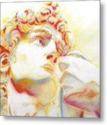 The David By Michelangelo. Tribute Metal Print