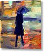 The Day For An Umbrella Metal Print